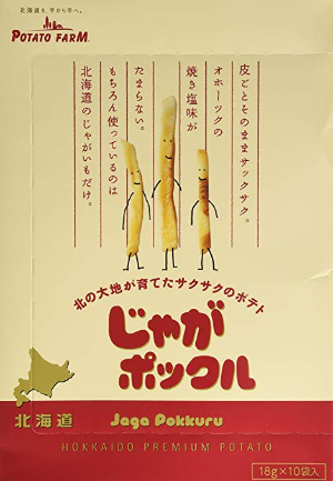 $16.55Calbee jaga-pockle potato snacks Hokkaido18g x 10 packs