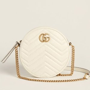 Gucci GG Marmont 白色小圆饼降价