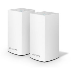 LinksysVelop Dual Band AC2400 Intelligent Mesh WiFi Router Replacement System | 2 Pack | Coverage up to 3,000 Sq Ft | Walmart Exclusive