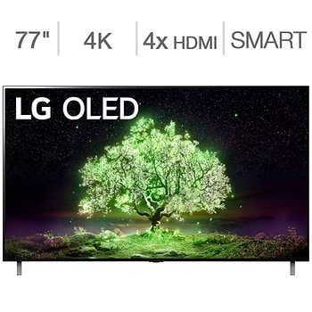 """LG 77"""" Class - A1 Series - 4K UHD OLED TV - Allstate Protection Plan Bundle Included"""