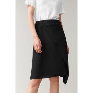 COS黑色半身裙