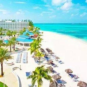 $899起    打卡网红猪岛+粉色沙滩4晚巴哈马 梅丽亚拿骚海滩全包酒店 + 机票套餐促销