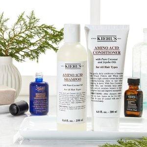 满$150减$35Kiehl's 科颜氏 洗护发系列热卖 收氨基酸洗发水 帮头发做SPA