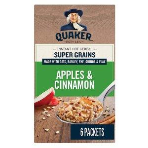 $12.84(原价$25.74)Quaker 桂格速食麦片 肉桂苹果味 高纤维营养早餐 共36袋