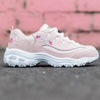 Skechers D-Lites 女款老爹鞋 白色、少女粉