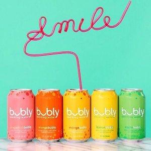 $7.96(原价$9.94)Bubly Sparkling Water 0卡气泡水 3种口味混合装 24罐x355mL