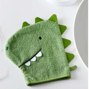 Simons Maison100% 纯棉小恐龙洗澡手套
