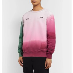 AMBUSH®Logo-Appliqued Patchwork Tied-Dyed Loopback Cotton-Jersey Sweatshirt