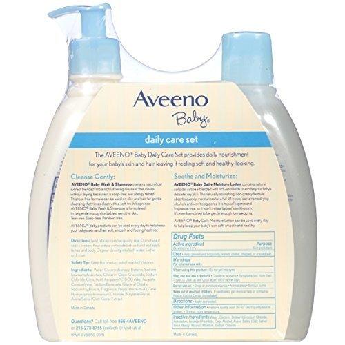 Aveeno 婴幼儿天然燕麦护肤套装,洗发沐浴液+保湿润肤露