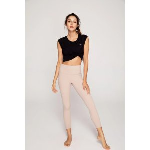 ZEN ZEN STUDIOStreamlined High Waisted Workout Leggings in Beige