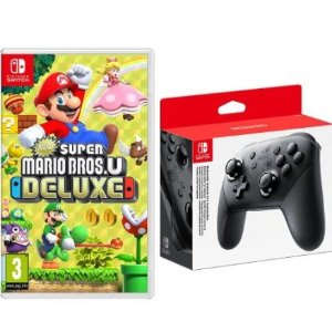 New Super Mario Bros. U Deluxe - Nintendo Switch + Switch Pro Controller