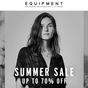 Up To 70% Off + Extra 40% OffEquipment Women's Clothing Summer Sale