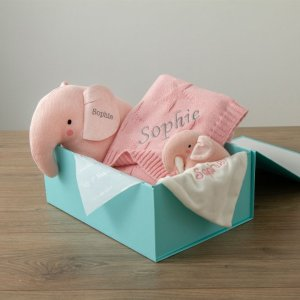 My 1st YearsPersonalized Pink Elephant Baby Gift Set
