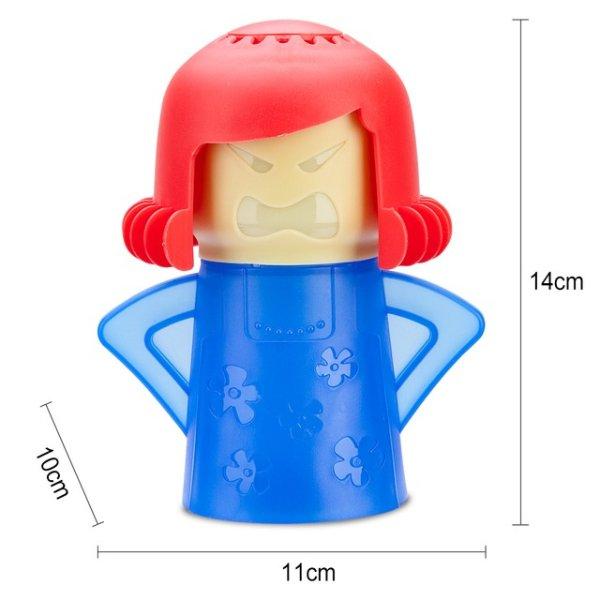 蓝衣红发老妈 蒸汽清洁器