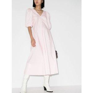 Ganni粉色连衣裙