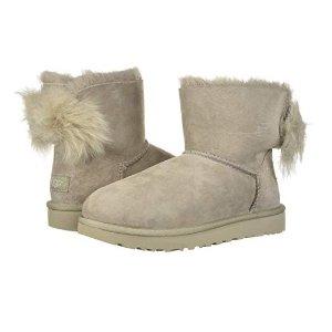 ce66944c1a3 UGG Women's Classic Mini Fluff Bow Boot@Amazon.com - Dealmoon