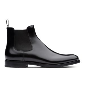 Monmouth wg Polished Binder Chelsea Boot Black