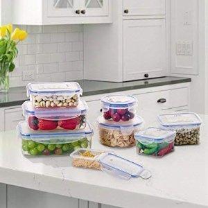 6.9折 现价€17.84 (原价€25.98)Deik 食品保鲜盒8件套 可进洗碗机、微波炉