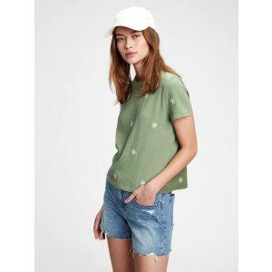 Gap刺绣小雏菊T恤