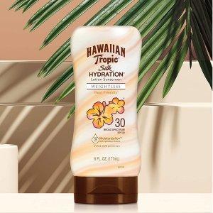 180ml仅€8.94 去海边也晒不黑Hawaiian Tropic 防晒乳 SPF30 清爽不油腻 成膜就丝滑