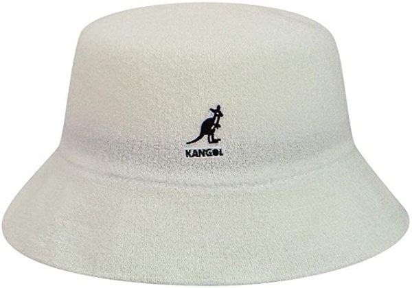 白色logo渔夫帽
