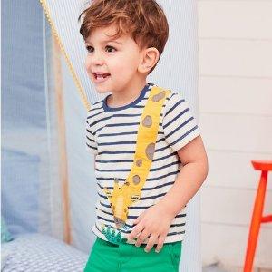 额外9折 $9.9起 错过等明年折扣升级:Mini Boden官网 儿童T恤5折起大促,英伦高颜值+高品质