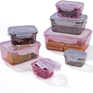 低至6折 €14.99收封面款Gourmetmaxx 密封保鲜盒14件套热卖 包含多种尺寸