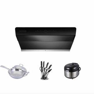 X800-30''+304 SS Wok+Knife Set+Electric Pressure Cooker | LeKITCHEN INC