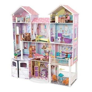 Amazon KidKraft Country Estate Wooden Dollhouse for 12