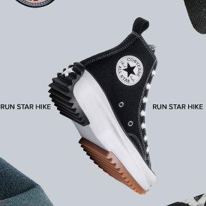 £70起 街头潮人必备Converse Run Star Hike 厚底鞋上新 心机设计超显腿长