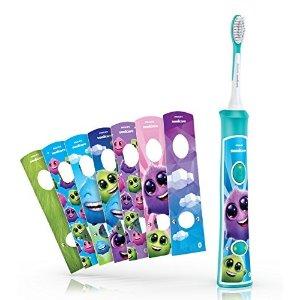 新款飞利浦儿童声波电动牙刷 蓝牙APP互动款