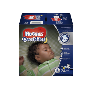 $24.97HUGGIES 夜用婴儿纸尿裤 4段 74片