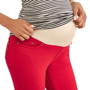 311ace203d Oh! MammaMaternity Full Panel Twill Bermuda Shorts with 5 Pockets and Roll  Cuffs--