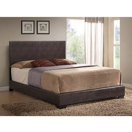 Ireland Queen Faux Leather Bed Brown, Ireland Queen Faux Leather Bed Black