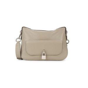 Marc JacobsLocket Detail Leather Messenger Bag