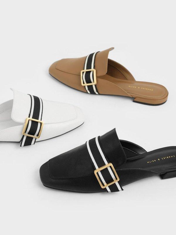 方扣穆勒鞋