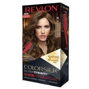 $2.47Revlon Colorsilk Buttercream Hair Dye, Light Natural Brown, Pack of 1