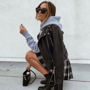 5折起 毛领皮夹克£200+AllSaints官网 女士外套专场 又A又飒皮衣、西装好价入