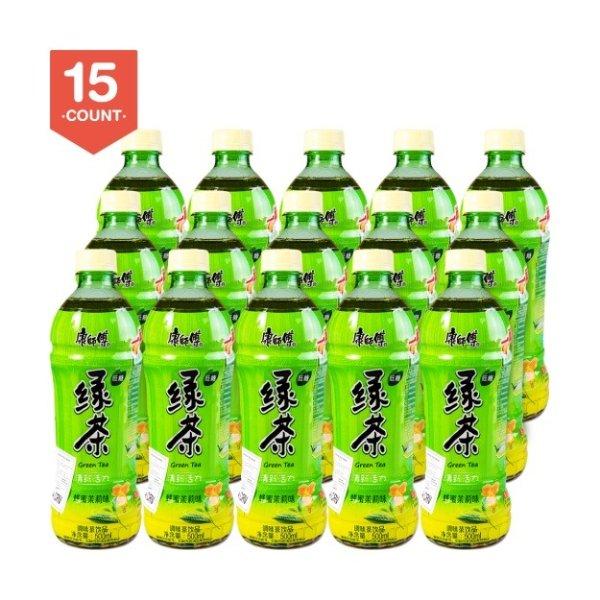 康师傅 低糖绿茶 蜂蜜茉莉味 500ml*15瓶装 一箱