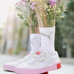 额外7折 丝绒款$31最后一天:PUMA Cali 女鞋多色热卖 收傻脸同款