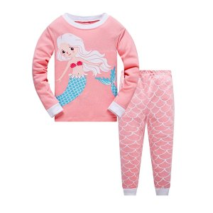 Last Day: Amazon Garsumiss Girls Pajamas Toddler Girl Amazon Sleepwear Mermaid Pajamas Kids Clothes Cotton PJS Sets