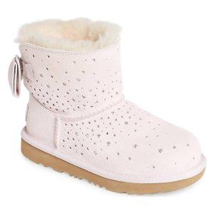 女童蝴蝶结雪地靴