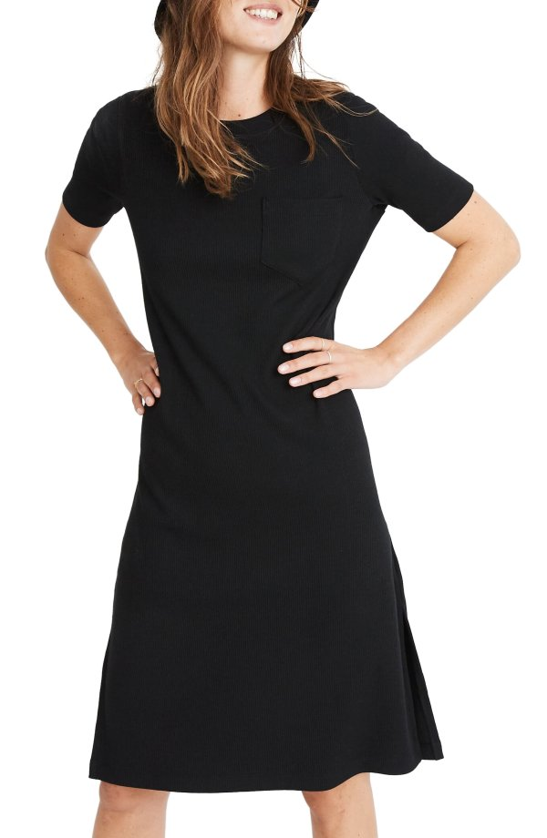 Ribbed Pocket 连衣裙