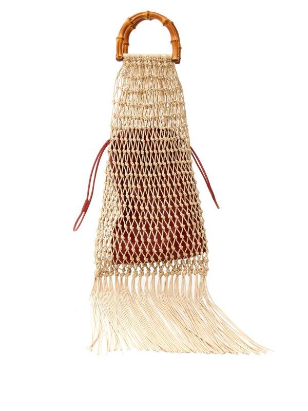竹柄花边包袋