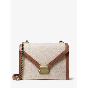 Michael KorsWhitney Large Hemp and Leather Convertible Shoulder Bag