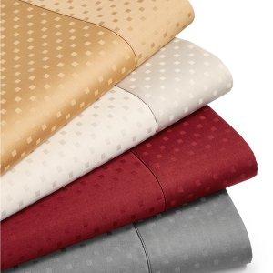 $29Sunham Agusta Dobby 4-Pc. Sheet Sets, 600 Thread Count Cotton