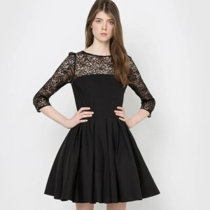 黑色蕾丝连衣裙