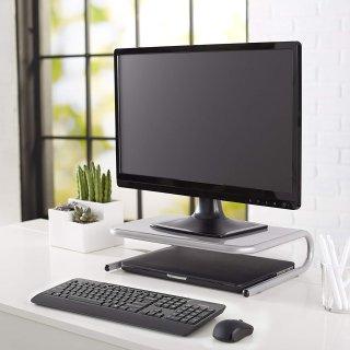 $10.11AmazonBasics Metal Laptop Computer Monitor Riser Stand - Silver