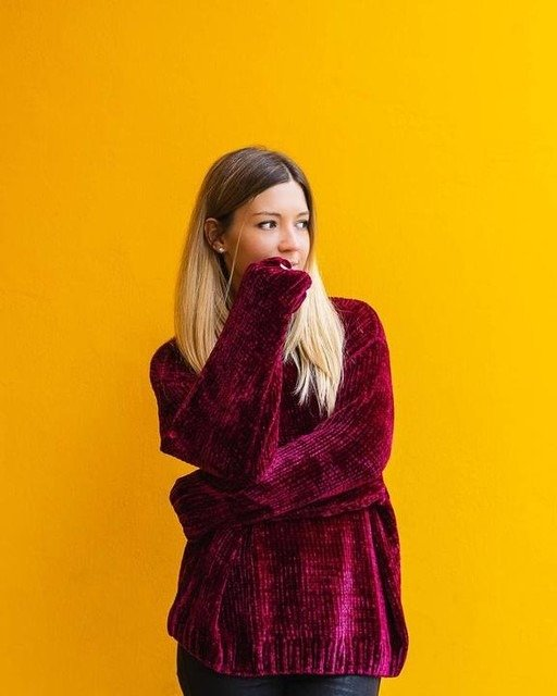 红丝绒卫衣