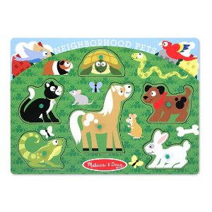 Melissa and DougBuy One Get Another 50% OffNeighborhood Pets Peg Puzzle - 6 Pieces